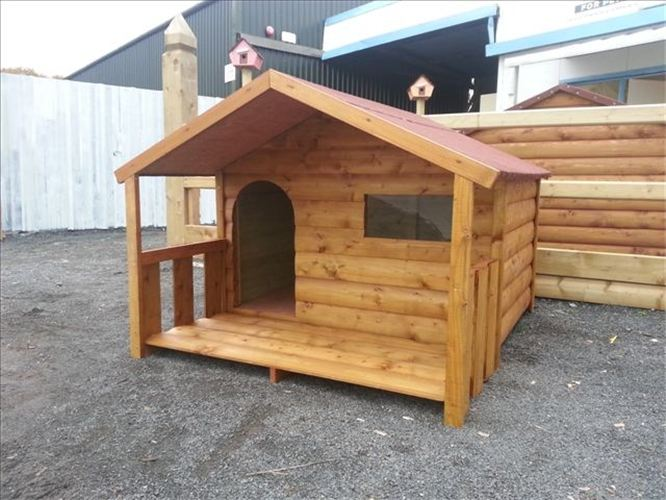 Large Dog Cabin And Porch Funky Cribs